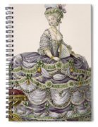 Duchess Evening Gown, Engraved Spiral Notebook