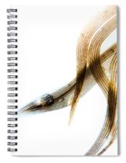 Duck Feather And Water Drops Spiral Notebook