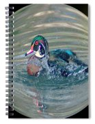 Duck In A Bubble  Spiral Notebook