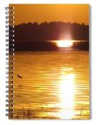 Duck On Sunset Spiral Notebook