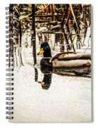 Duck On The Water Spiral Notebook