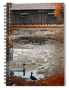 Ducking Under The Bridge Spiral Notebook