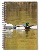 Ducks And Egret Spiral Notebook