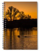 Ducks At Sunrise On Golden Lake Nature Fine Photography Print  Spiral Notebook