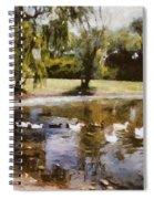 Ducks In A Row Spiral Notebook