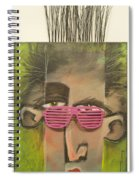 Dude With Pink Sunglasses Spiral Notebook