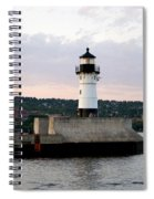 Duluth Mn Lighthouse Skyline Spiral Notebook