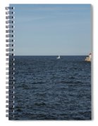 Duluth N And S Pier Lighthouses 5 Spiral Notebook