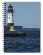 Duluth N Pier Lighthouse 40 Spiral Notebook