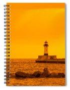 Duluth N Pier Lighthouse 41 A Spiral Notebook
