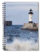 Duluth N Pierhead And Ship 1 Spiral Notebook