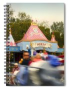 Dumbo Flying Elephants Fantasyland Signage Disneyland 02 Spiral Notebook