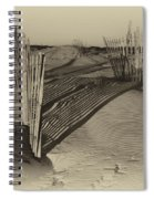 Dune Erosion Fence Outer Banks Nc Antique Plate Img_3761 Spiral Notebook