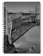 Dune Erosion Fence Outer Banks Nc B And W Img_3761 Spiral Notebook