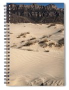 Dunes At The Guadalupes Spiral Notebook