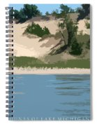 Dunes Of Lake Michigan Spiral Notebook