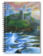 Dunscaith Castle - Shadows Of The Past Spiral Notebook