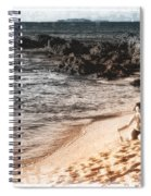 Duotone Beach Scene Spiral Notebook