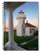 Dusk At Mukilteo Lighhouse Spiral Notebook