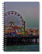 Dusk At The Santa Monica Pier Spiral Notebook