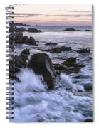 Dusk At West Quoddy Head Light Spiral Notebook