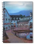 Dusk Before Snow At Town Square Spiral Notebook