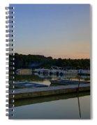 Dusk Dock 20140718 Spiral Notebook