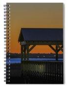 Dusk Hues Of Orange Spiral Notebook