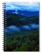Dusk In The Smoky Mountains   Spiral Notebook