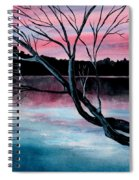 Dusk Lake Arrowhead Maine  Spiral Notebook
