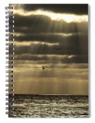 Dusk On Pacific Spiral Notebook