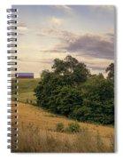 Dusk On The Farm Spiral Notebook