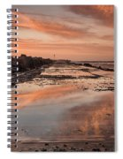 Dusk On The North Jetty Spiral Notebook