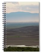 Dusk Over Medano Creek And The San Luis Spiral Notebook