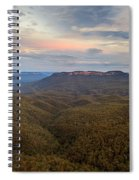 Dusk Over Mount Solitary Spiral Notebook