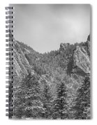 Dusted Flatiron In Black And White  Spiral Notebook