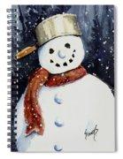 Dustie's Snowman Spiral Notebook