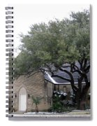 Dusting Of Snow At Church On Pennsylvania St Fort Worth Tx Spiral Notebook