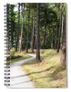 Dutch Country Bicycle Path Spiral Notebook
