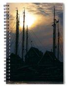 Dutch Harbour By Night Spiral Notebook