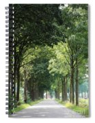 Dutch Landscape - Country Road Spiral Notebook