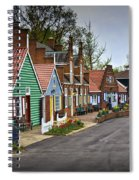 Dutch Shops On Windmill Island In Holland Michigan Spiral Notebook