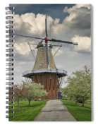 Dutch Windmill The Dezwaan On Windmill Island In Holland Michigan Spiral Notebook