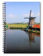 Dutch Windmills Spiral Notebook