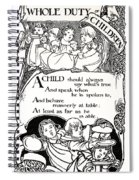 Duty Of Children  1895 Spiral Notebook