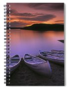 D.wiggett Canoes On Shore, Pink And Spiral Notebook