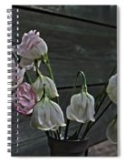 Dying Grieving Flowers Spiral Notebook