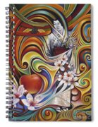 Dynamic Blossoms Spiral Notebook