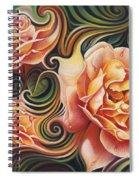 Dynamic Floral V  Roses Spiral Notebook