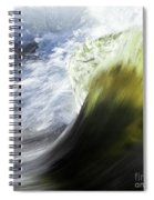 Dynamic River Wave Spiral Notebook